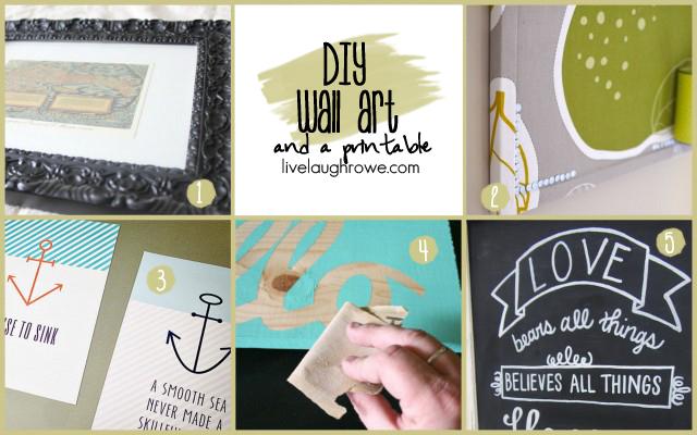 DIY Wall Art with livelaughrowe.com