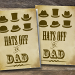Hats Off to Dad   Printable Father's Day Card