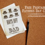 Hats Off to Dad | Printable Father's Day Card