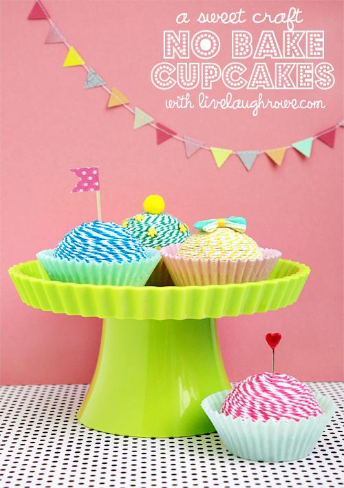 Baker's Twine Cupcake | Spectacular DIY Kids Tea Party Ideas | tea party table decorations
