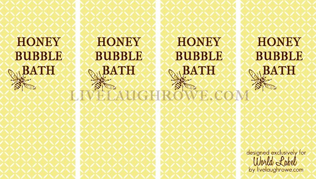 Homemade Bubble Bath Printable