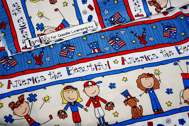 Patriotic Craft with Laura Kelly fabric