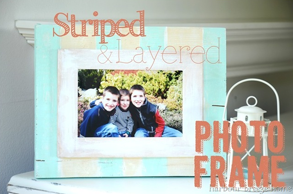 Striped and Layered Photo Frame