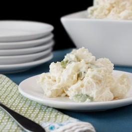 Delicious and Easy Homemade Potato Salad with livelaughrowe.com
