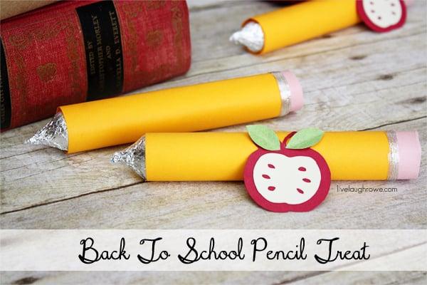 Back to School Craft. A Pencil Treat with livelaughrowe.com