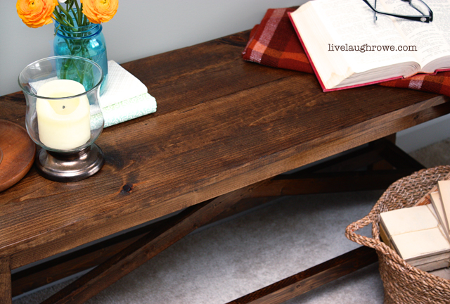 Beautiful Rustic Bench with livelaughrowe.com
