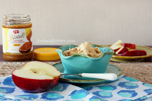 Biscoff Apple Dip with livelaughrowe.com