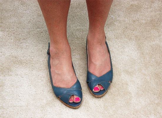 Blue Naturalizer Wedge Shoes