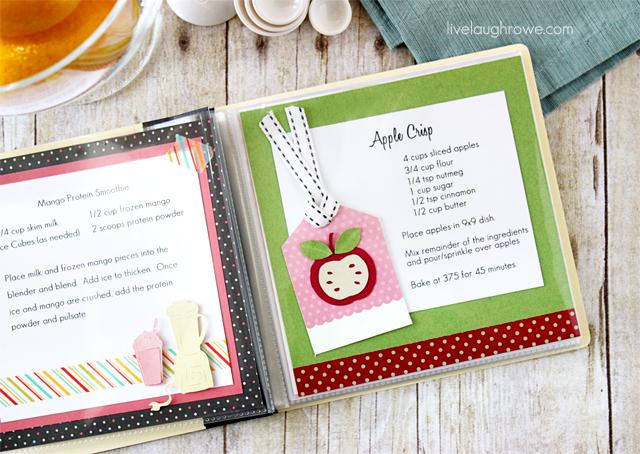 DIY Cookbook. A family craft with livelaughrowe.com