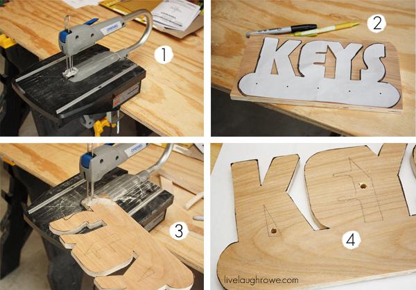 DIY Key Holder Tutorial with livelaughrowe.com