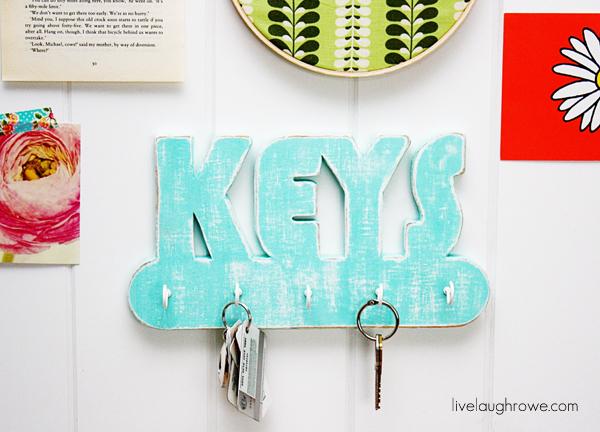 DIY Key Holder using Dremel Moto-Saw with livelaughrowe.com
