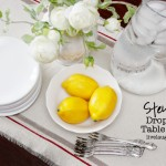 DIY Drop Cloth Table Runner