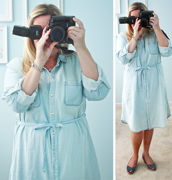 Denim Summer Dress with livelaughrowe.com