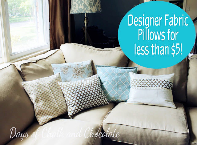 Designer Fabric Pillows less than $5