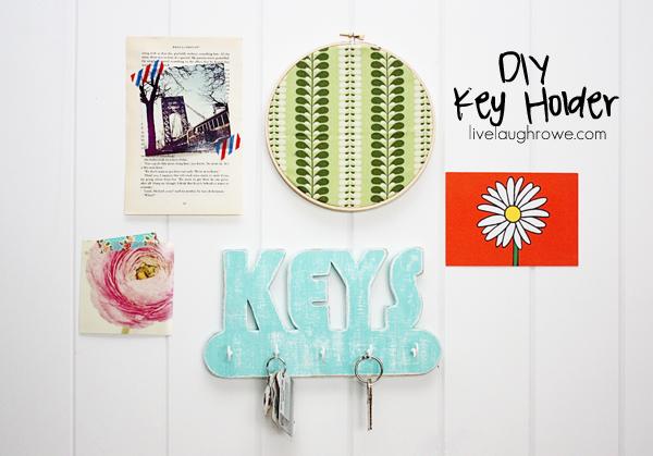 Fabulous DIY Key Holder with livelaughrowe.com
