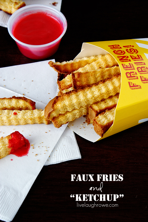"Faux Fries and ""Ketchup"" with livelaughrowe.com"
