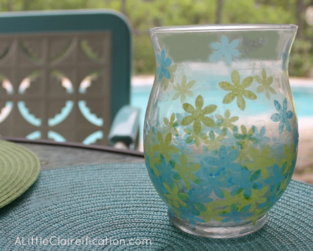 Guest Post | DIY Faux Stained Glass Candle Holders with livelaughrowe.com