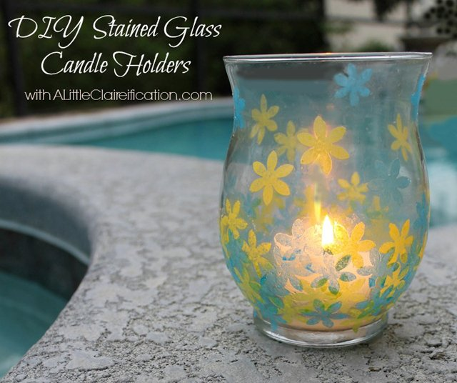 Guest Post | DIY Stained Glass Candle Holders with livelaughrowe.com