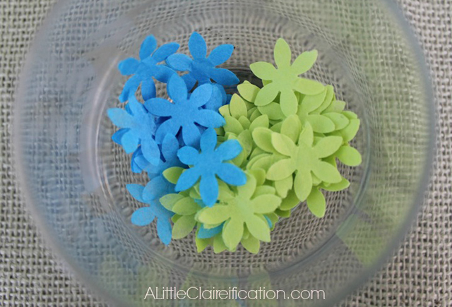 Punched Tissue Flowers