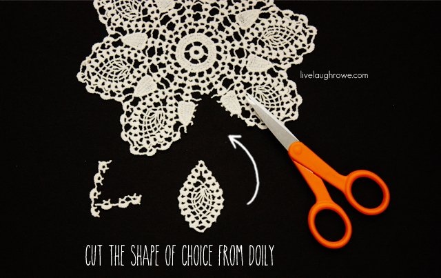 Cut Your Shape Of Choice From The Doily For Diy Boho Earrings