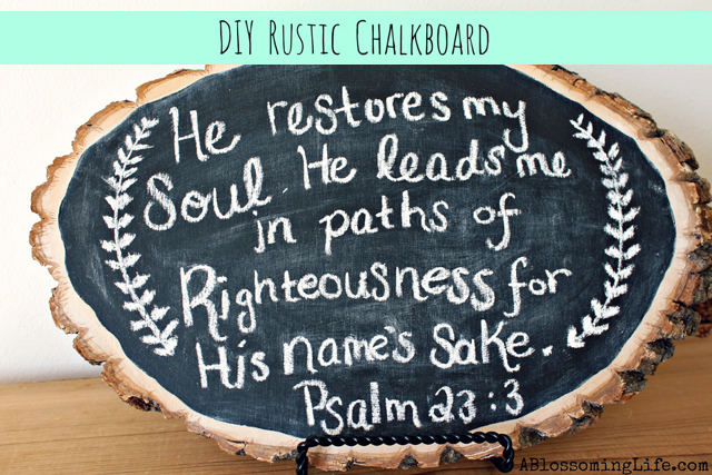 DIY Rustic Chalkboard from ABlossomingLife.com