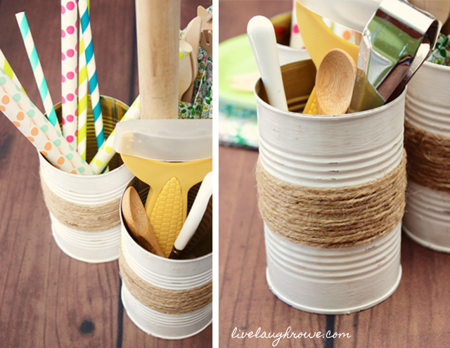 DIY Rustic Condiment Caddy by livelaughrowe.com