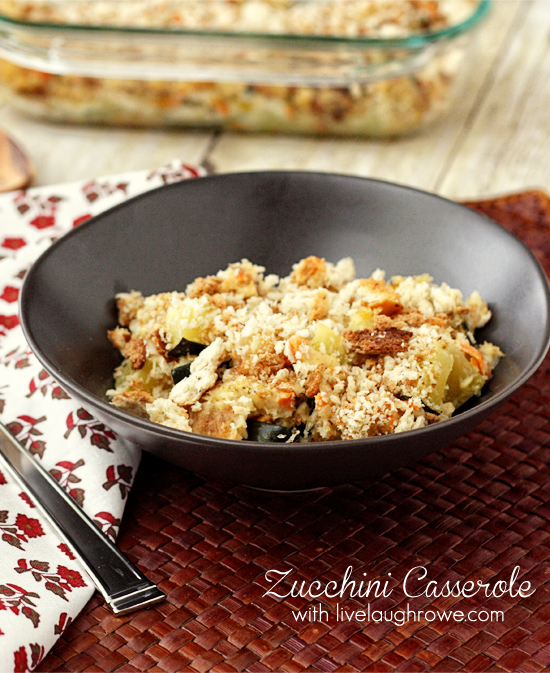 The best Zucchini Casserole with livelaughrowe.com