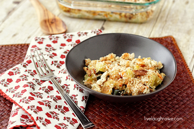 A family favorite, Zucchini Casserole that will have you coming back for more with livelaughrowe.com