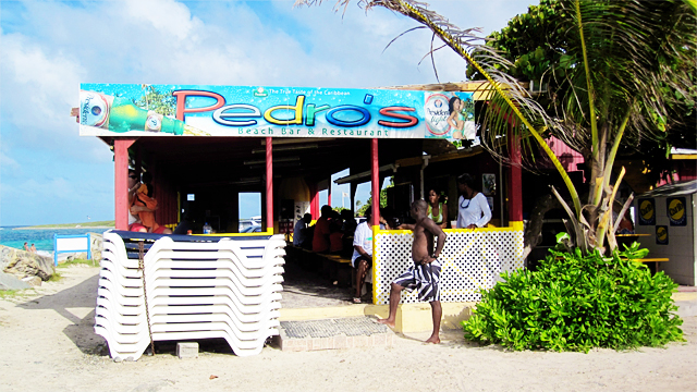 Pedros on Orient Beach in St. Maarten