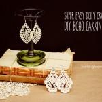 Doily Craft   DIY Boho Earrings