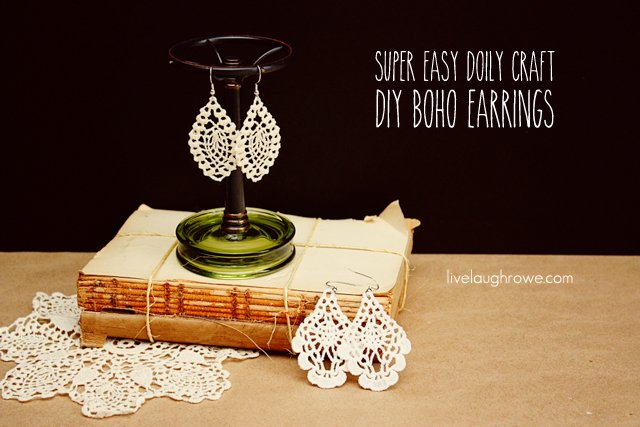 Super Easy Doily Craft. DIY Boho Earrings.