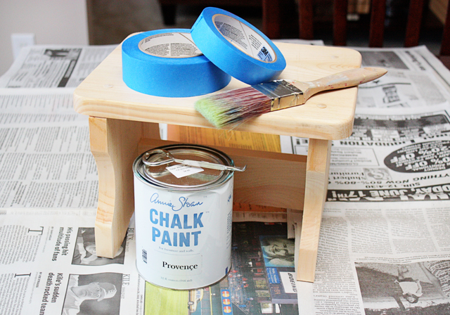 Supplies for stenciling with painter's tape