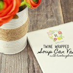 Rustic Twine Wrapped Vase | Repurposed Soup Can