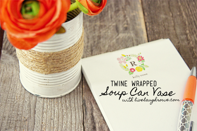 Twine Wrapped Soup Can Vase