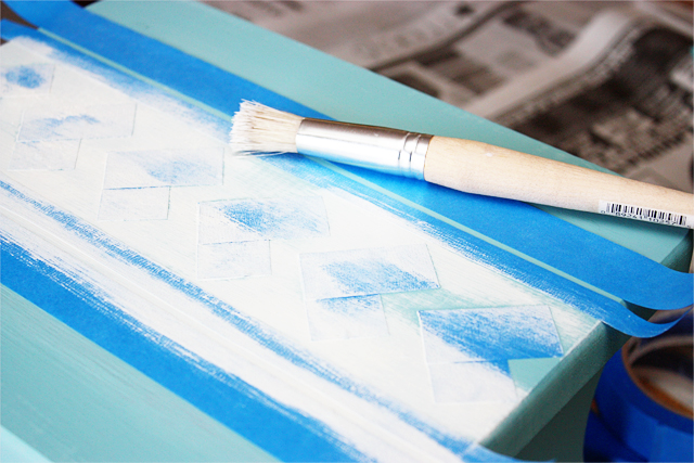 painting over your painter's tape stencil