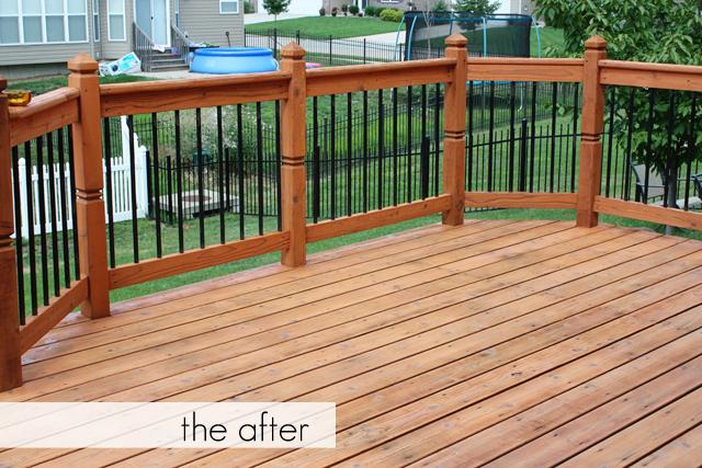 After shot of the decks facelift