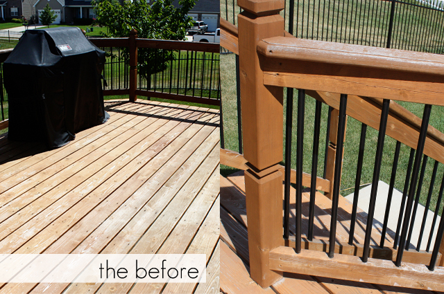 Before pics of the deck