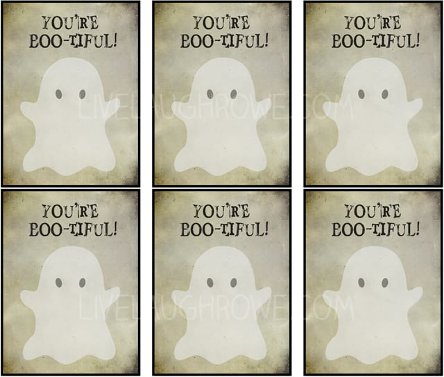 Boo-tiful Halloween Printables with livelaughrowe.com