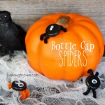 Fun Bottle Cap Spiders | Kids Craft