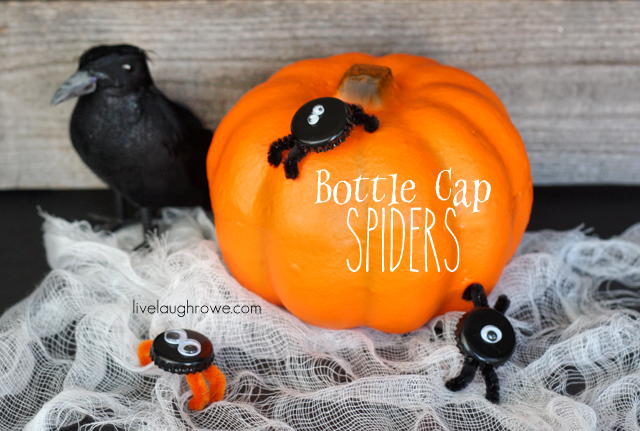 Bottle Cap Spiders by livelaughrowe.com for Eighteen25