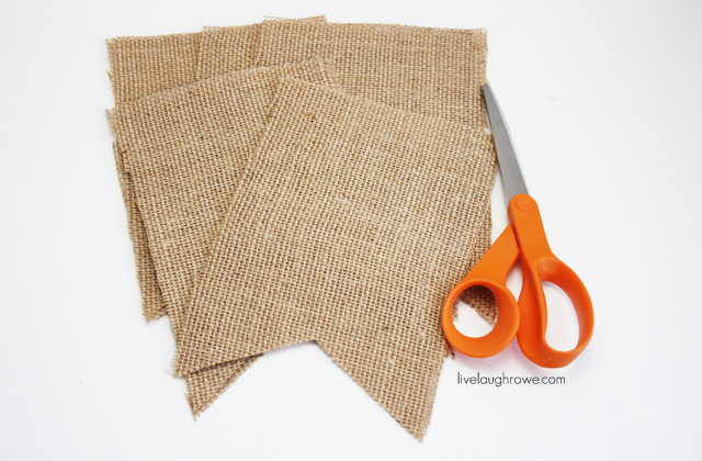 Cut the burlap pennants