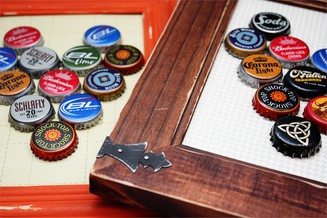 DIY Bottle Cap Magetic Boards