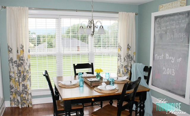 Eat In Kitchen Before and After with The Turquoise Home