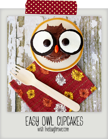 Edible Owl Cupcakes with livelaughrowe.com