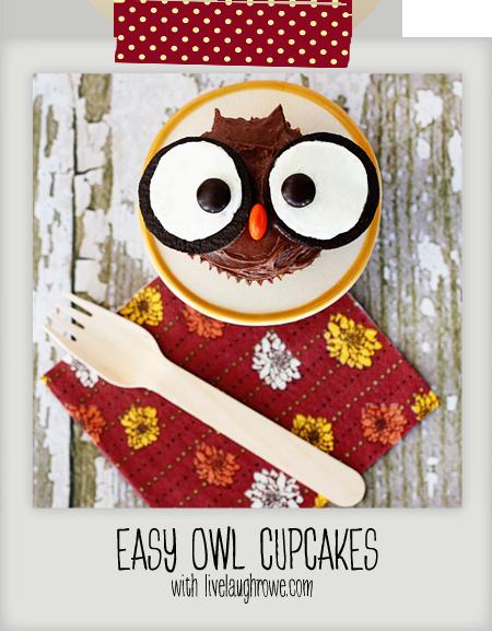 Edible Owl Cupcakes with livelaughrowe.com