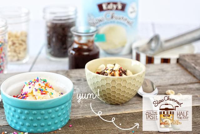 Edy's Ice Cream. All the TASTE. HALF the fat