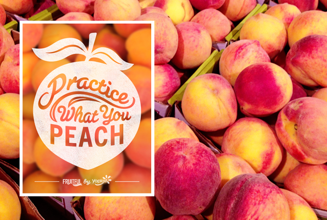 Fruitful Yogurt. Peaches