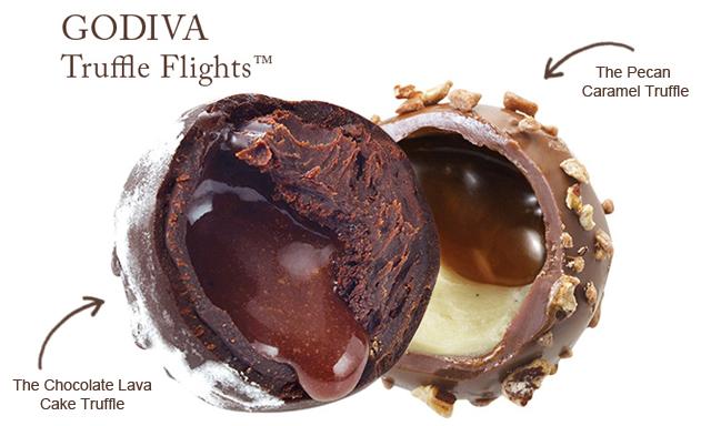 Godiva Truffle Flights.  Learn more with livelaughrowe.com #truffletakeoff
