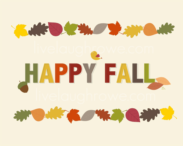 Happy Fall Printable from Live Laugh Rowe