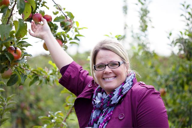 Kelly picking apples copy